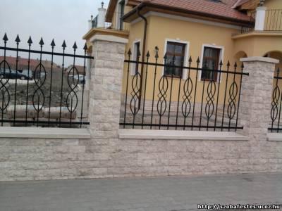 vas fém kerítés festés